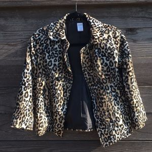 Girls Gymboree leopard jacket